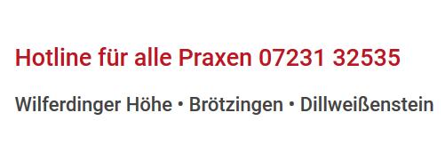 Hotline für alle Praxen 07231 32535